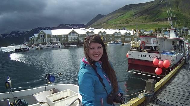 Kateřina Kubištová na Islandu