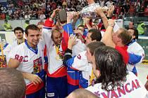Čeští hokejbalisté získali v Plzni podruhé v historii titul mistrů světa.
