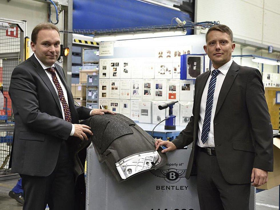 Uwe Hengstermann (vlevo) a Lubor Šabacký ve výrobě