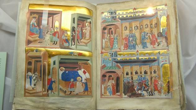 Unikátní výstava ve Studijní a vědecké knihovně Plzeňského kraje představila i tvář legendami opředené Dalimilovy kroniky.