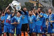 Oslavy pátého ligového titulu fotbalistů FC Viktoria Plzeň