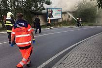 Požár budovy SK Neslyšících Plzeň ve Vyšehradské ulici