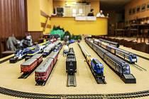 Výstava železničních modelů a kolejišť v Nýřanech.