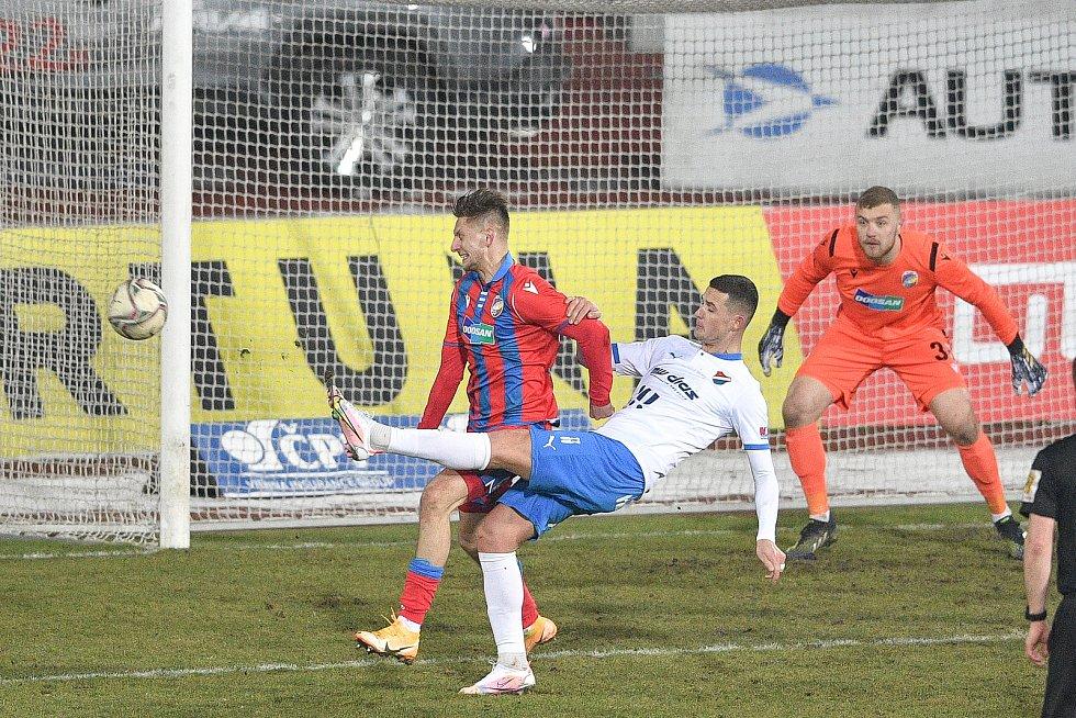 Utkání 17. kola první fotbalové ligy: FC Baník Ostrava – FC Victoria Plzeň, 31. ledna 2021 v Ostravě.