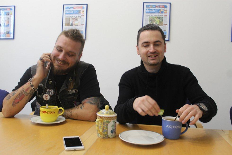 Kuba Ryba a Petr Lebeda na návštěvě Plzeňského deníku.