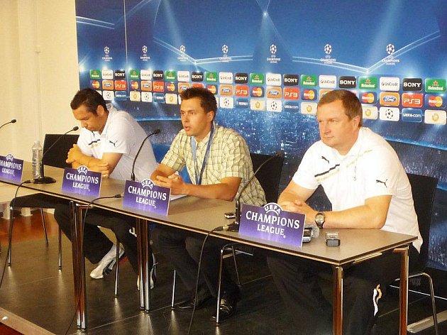 Tisková konference den před zápasem v Kodani