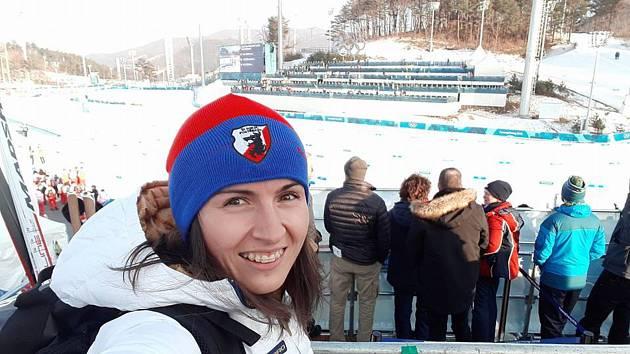Kateřina Beroušková na olympijských hrách v Pchjongčchangu.