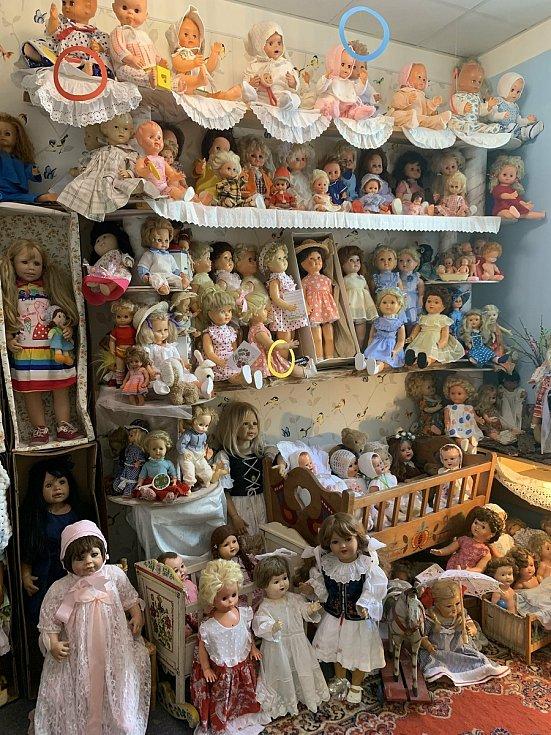 Muzeum panenek Purkyňova ulice.