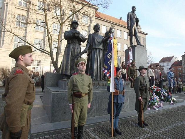 Lidé uctili památku prezidenta Masaryka
