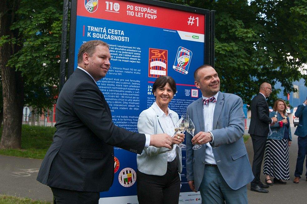 Slavnosti výročí 110 let od založení FC Viktoria Plzeň.