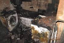 Požár rodinného domu ve Vlkošově na severním Plzeňsku