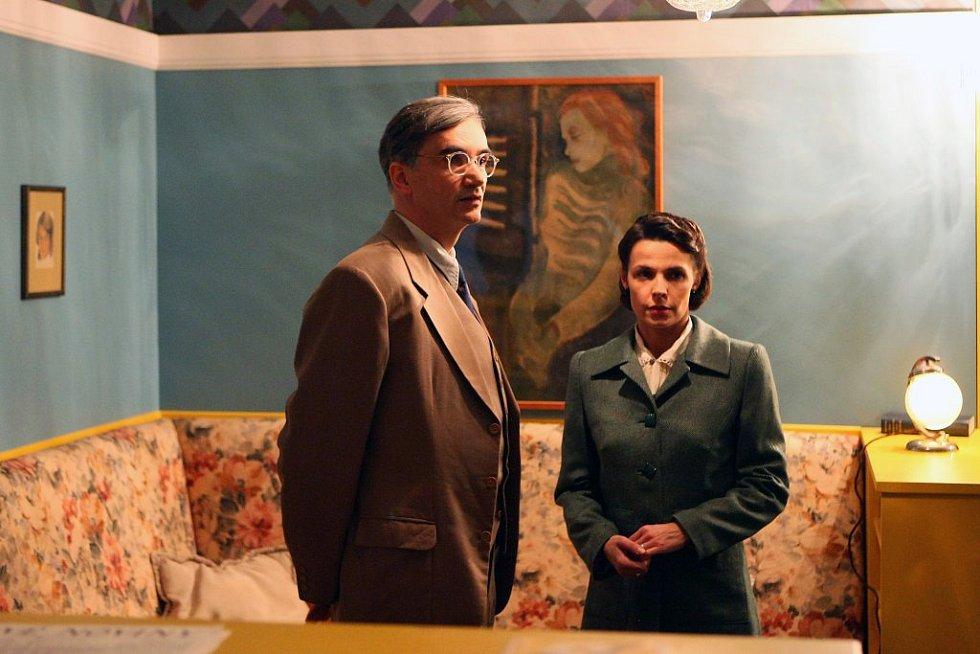 Martin Myšička a Renata Visnerová-Prokopová během natáčení