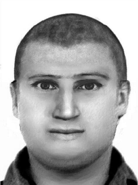 Policejní portrét lupiče, který v úterý vyloupil poštu v Brněnské ulici.