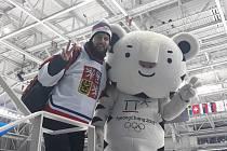 Marek Čech kromě cestování také fandil českým sportovcům. Nenechal si ujít třeba hokejové zápasy.