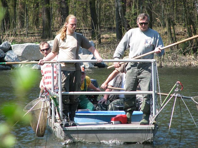 Odlov plevelných ryb se uskutečnil o velikonočních svátcích na Velkém i Malém Boleveckém rybníku.
