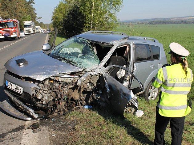 Středeční ranní nehoda na spojnici Plzně a Karlových varů