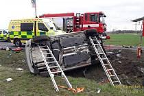 Dopravní nehoda u Globusu v Plzni.