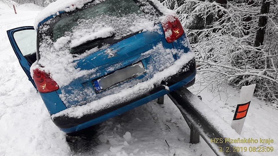 Sněhová kalamita v Plzeňském kraji.
