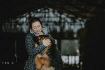 Ríša s Andreou Kolmanovou. Foto: archiv útulku v Borovně