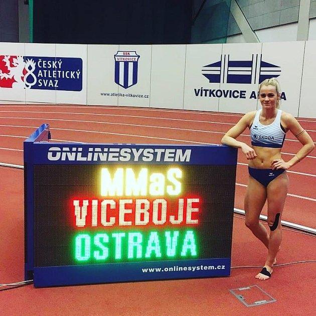 Atletka Škody Plzeň Denisa Majerová