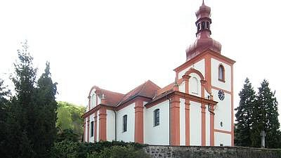 Kostel sv. Mikuláše ve Zbirohu.