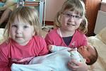 Hana a Jakub Chlanovi zPlzně už mají dcery Lucii (5,5 roku) a Julii (2,5). Ve fakultní nemocnici se jim 3. března ve 13.23 hod. kveliké radosti všech narodil syn Martínek (3,40 kg, 49 cm)