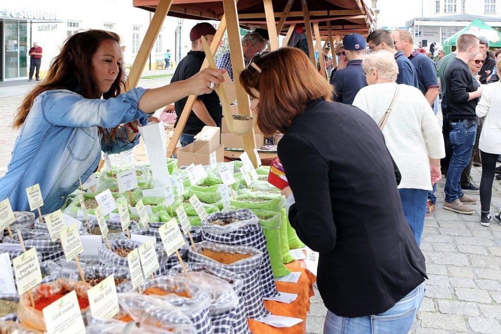Gastronomická akce Chutě Evropského regionu Dunaj-Vltava obsadila v pátek nádvoří Plzeňského Prazdroje.