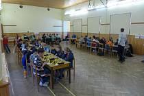 Šachový turnaj v Radobyčicích. Hrací místnost kategorie HD12, HD14, HD16