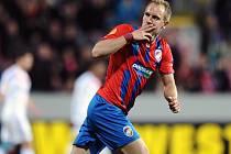 Daniel Kolář vstřelil druhý gól Viktorie v zápase s Českými Budějovicemi.