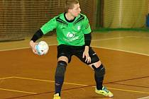 Futsalisté Plzně uspěli v České Lípě, podílel se na tom i brankář Ondřej Sochůrek (na snímku).