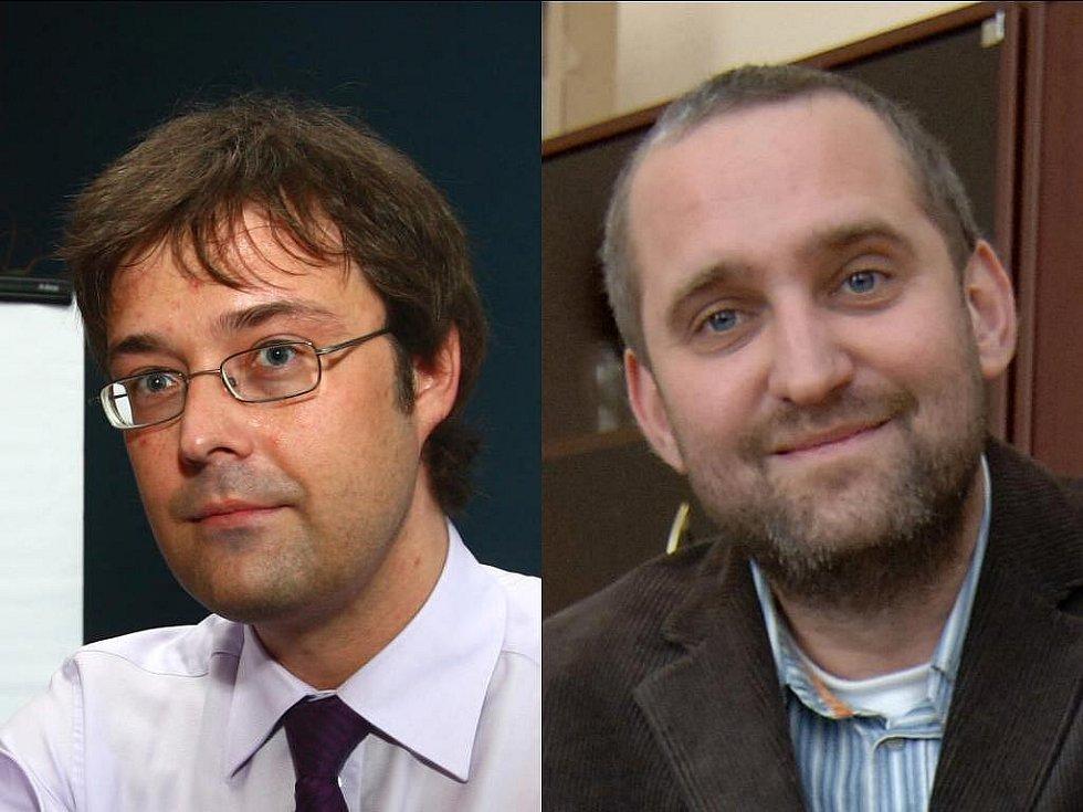 Karel Paleček (vlevo) a místostarosta třetího plzeňského obvodu Stanislav Kopáček
