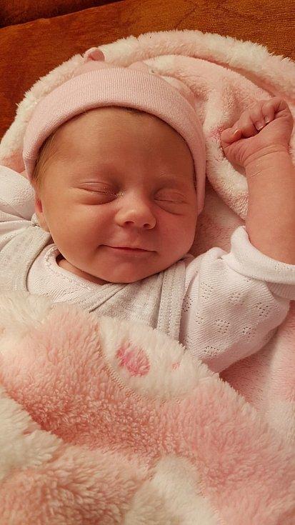 Julie Mestlová zPlzně se narodila vklatovské porodnici 7. března v10:30 hodin. Při příchodu na svět holčička měřila 49 cm a vážila 2950 g. Rodiče Věra a David dopředu věděli pohlaví svého miminka.