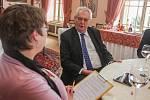 Prezident Miloš Zeman poskytl Deníku exkluzivní rozhovor na zámku ve Zbiroze