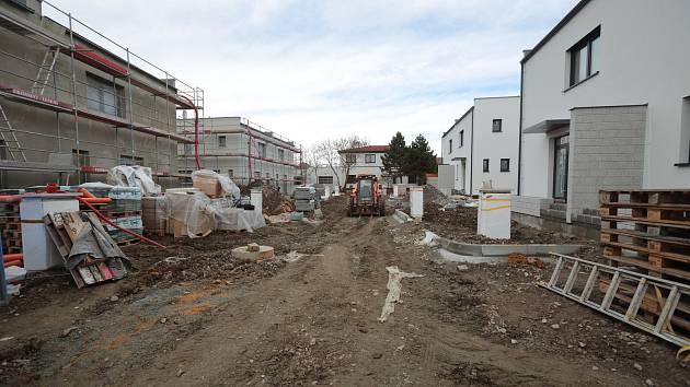 Stavba bytových domů na Nepomucké třídě v Plzni