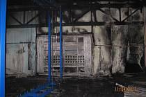 Požár budoucí lakovny v Robčicích