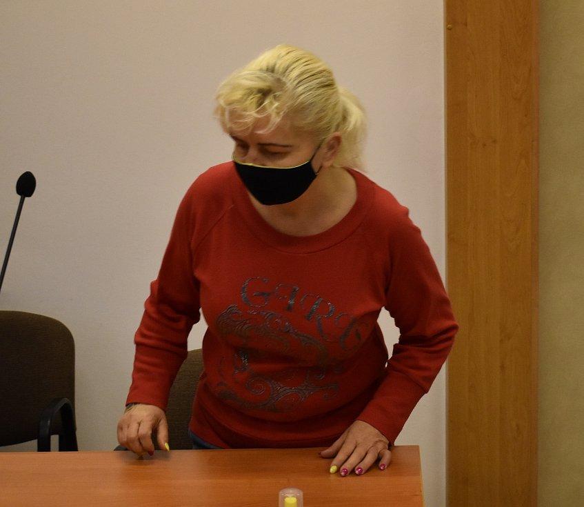 Adriana Šotíková u Krajského soudu v Plzni.