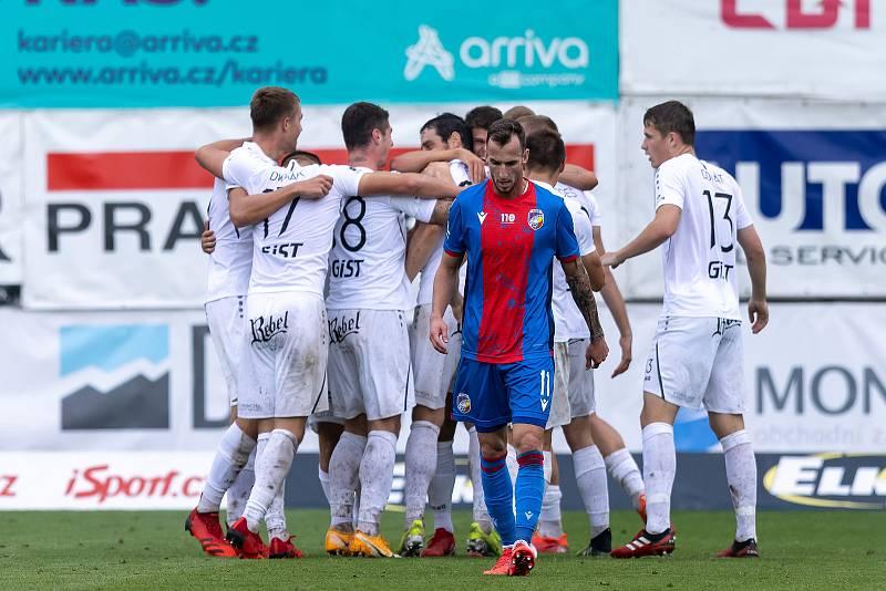 Z utkání 6. kola fotbalové Fortuna ligy, ve kterém Hradec Králové doma zdolal Viktorii Plzeň 1:0.