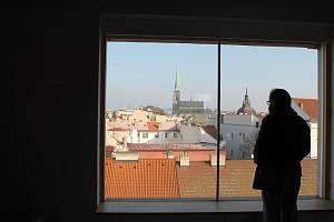 Výhled z budovy bývalého kina Elektra na Americké třídě v Plzni