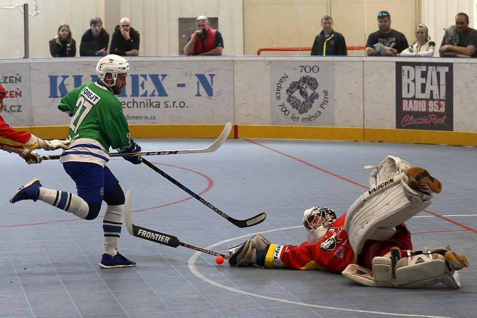 Hokejbal extraliga play off Plzeň x Hradec Králové