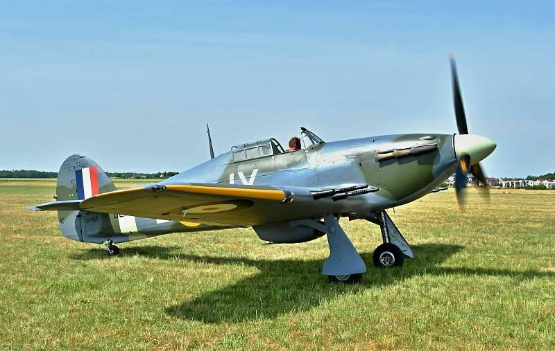 Stíhačka Hawker Hurricane ze sbírek muzea v Točné.