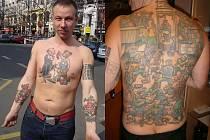 Luděk Pešek Pachl a jeho tetování