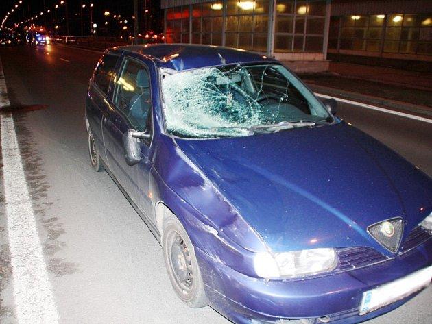 Nehoda a křižovatce ulic Gerská - Kralovická