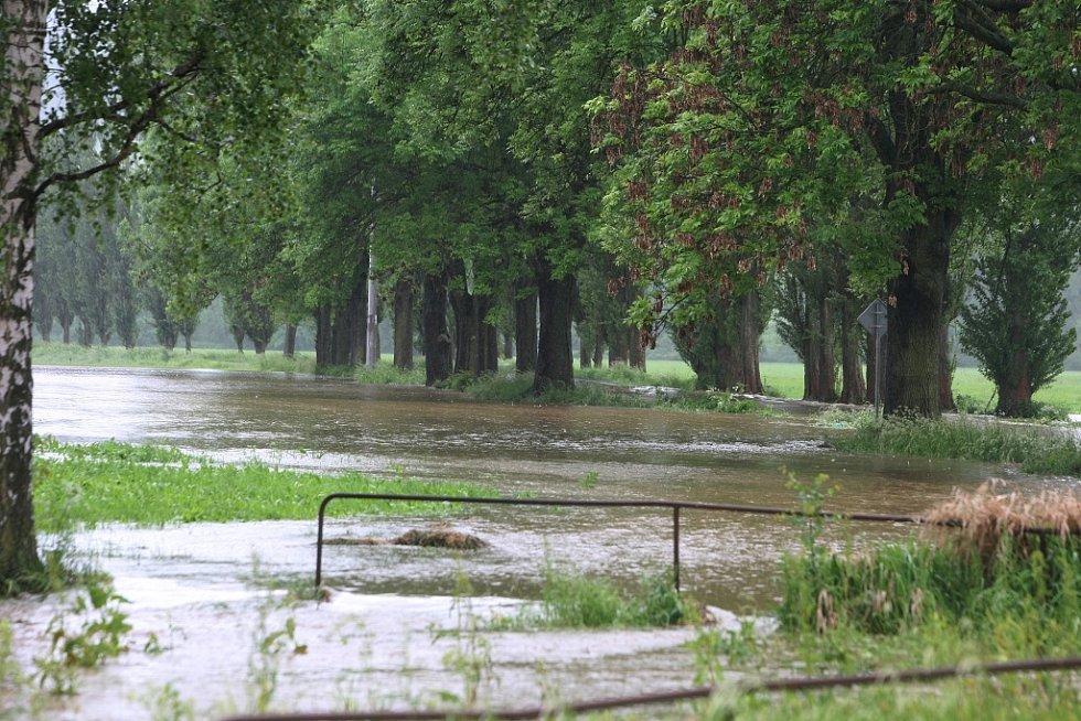 Povodně v Plzni - Žákava