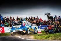 VÁCLAV PECH na trati loňské Rallye Šumava, kterou s vozem Ford Fiesta R5 vyhrál.