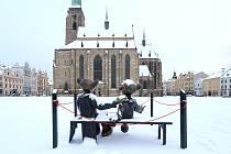 Sníh zasypal západočeskou metropoli.