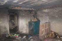 Požár sklepa v Plasích
