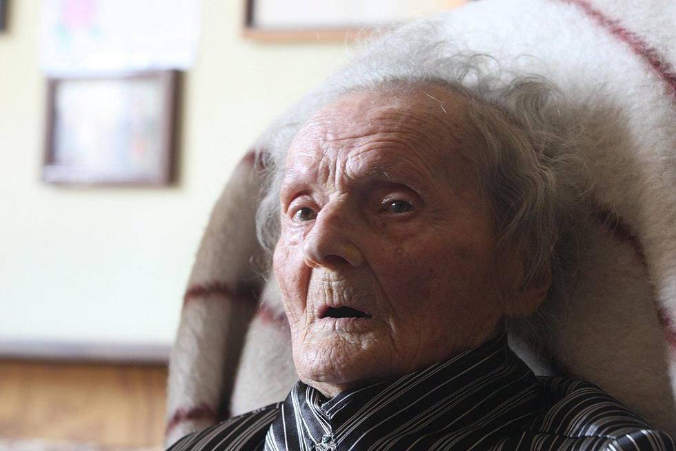 Paní Behenská oslavila 109 let