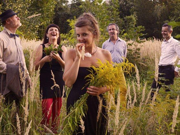 Lakuna. Na snímku zleva: Milan Voráček (baskytara), Jitka Malczyk (housle), Petra Kuna Hynčíková (zpěv, akordeon), Martin Rychta (bicí) a Tomáš Suchý (kytara, banjo)
