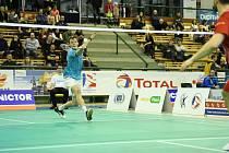 Jiří Král z BA Plzeň zvítězil v obou svých zápasech v posledním kole základní části badmintonové extraligy.