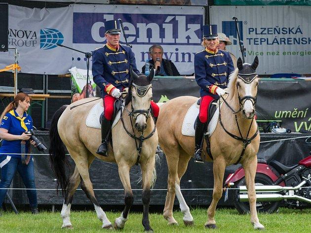 Koňská show ve Škodalandu se nesla v duchu divokého západu